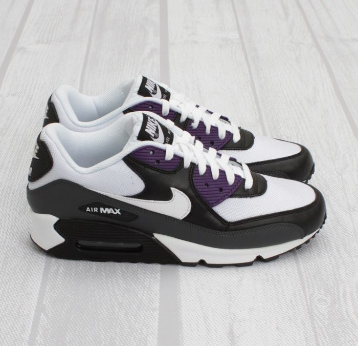 STYLE: Nike Air Max 90 – White-Black-Purple
