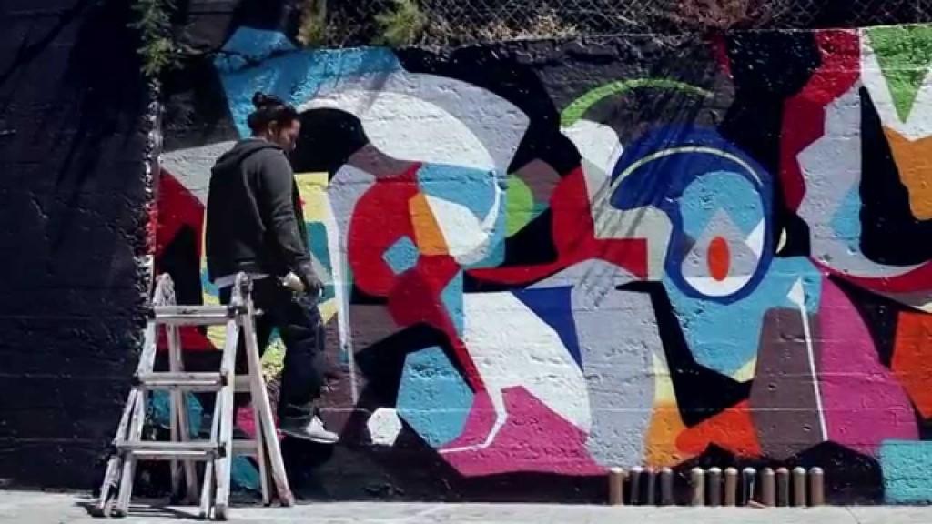 ART: STEEL & REYES in San Francisco   Montana Cans (VIDEO)