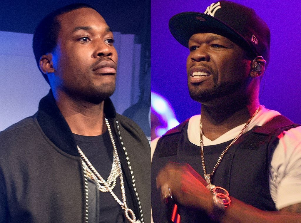 "LIFE: 50 Cent Holds up 'RIP Meek Mill"" T Shirt at his Show in Oakland. Should he Drop a Track?"