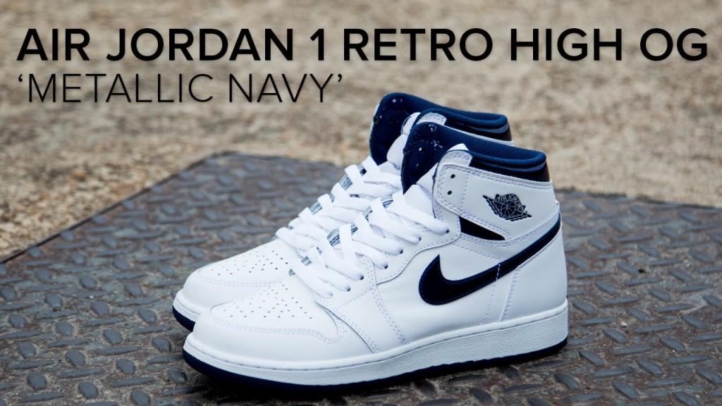 STYLE: Air Jordan 1 Retro High OG 'Metallic Navy' Quick Look