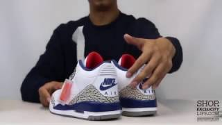 "STYLE: Air Jordan 3 Retro OG ""True Blue"" Unboxing Video at Exclucity"