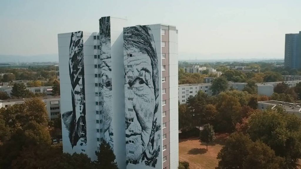 "ART: Making of HENDRIK ECB BEIKIRCH Mural ""VERA"""