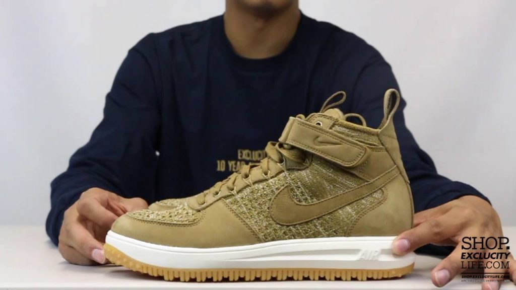STYLE: Nike Lunar Force 1 Flyknit Golden Beige Unboxing Video at Exclucity