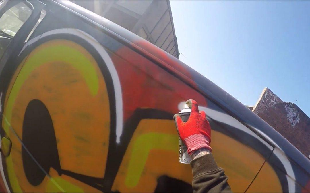 ART: Graffiti – Ghost EA – Van Graffiti Raw Footage