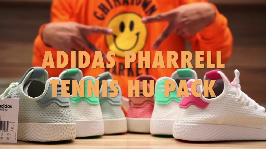 STYLE: Adidas Pharrell Williams Tennis Hu Unboxing & On feet Review Video at Exclucity