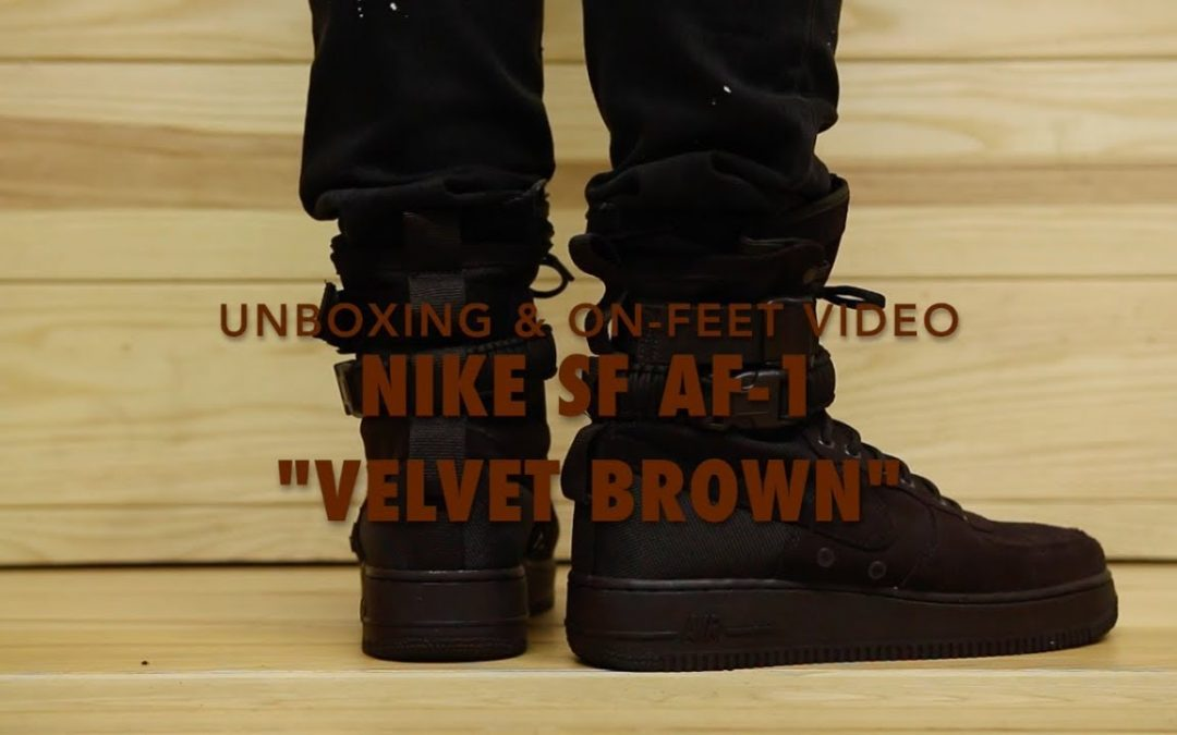 "STYLE: Nike SF AF 1 ""Velvet Brown"" Unboxing & On feet Video at Exclucity"
