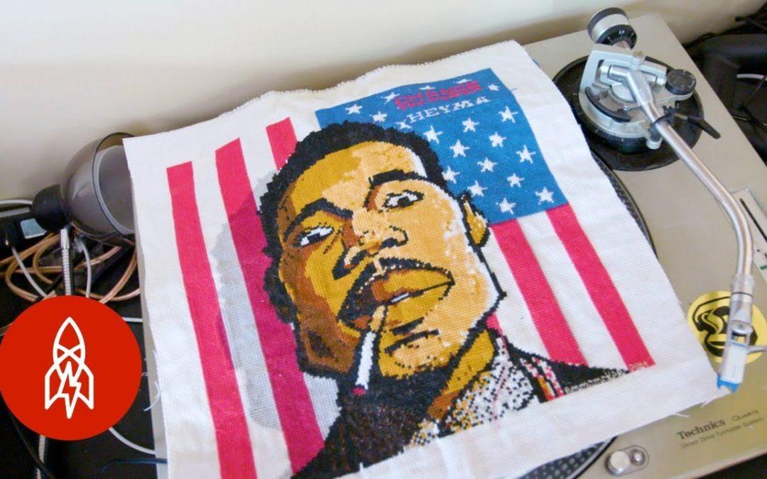 ART: Hip-Hop's Cross-Stitch Gawd