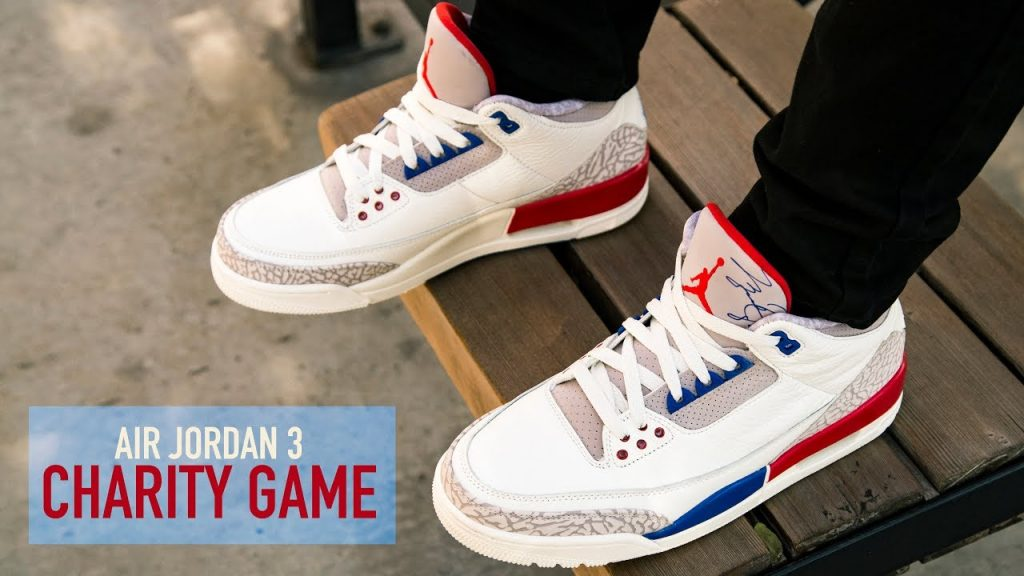 STYLE: FIRST LOOK: Air Jordan 3 'Charity Game' + ON FEET | SHIEKH
