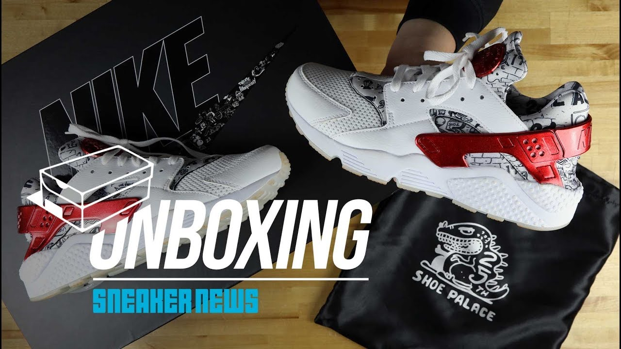 360e70f07d4b STYLE  Unboxing The Exclusive Shoe Palace x Nike Air Huarache QS — Streets  Connect