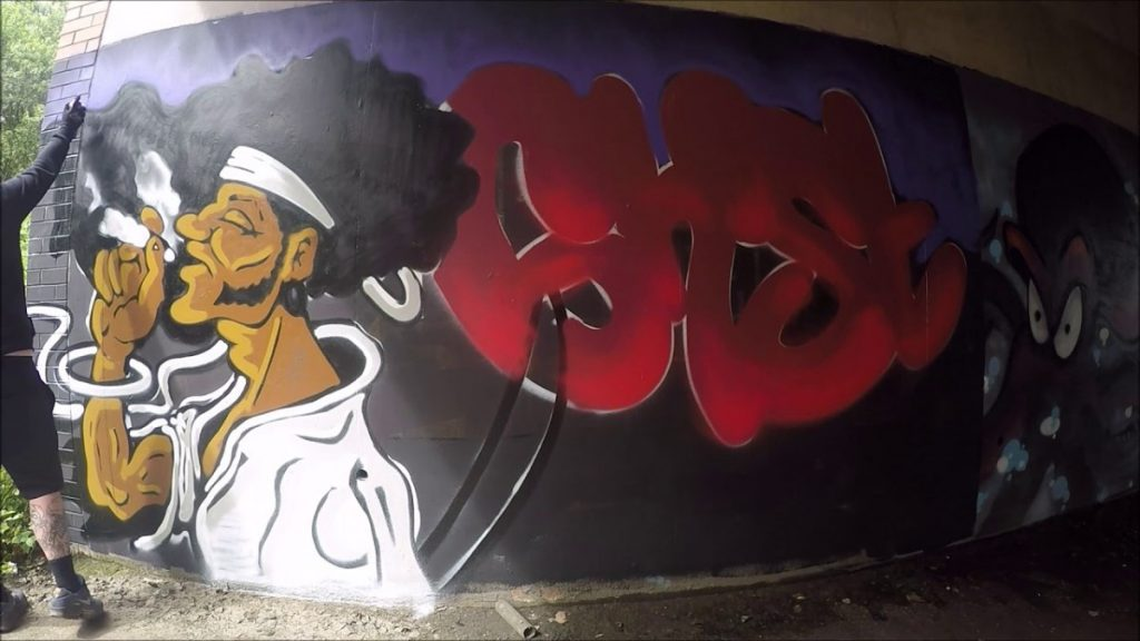 ART: Graffiti - Ghost EA - Afro Samurai