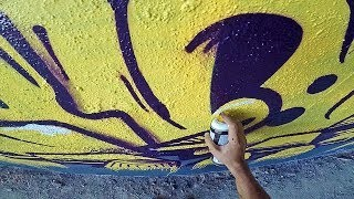 ART: Graffiti - Rake43 - Full Yellow Letters