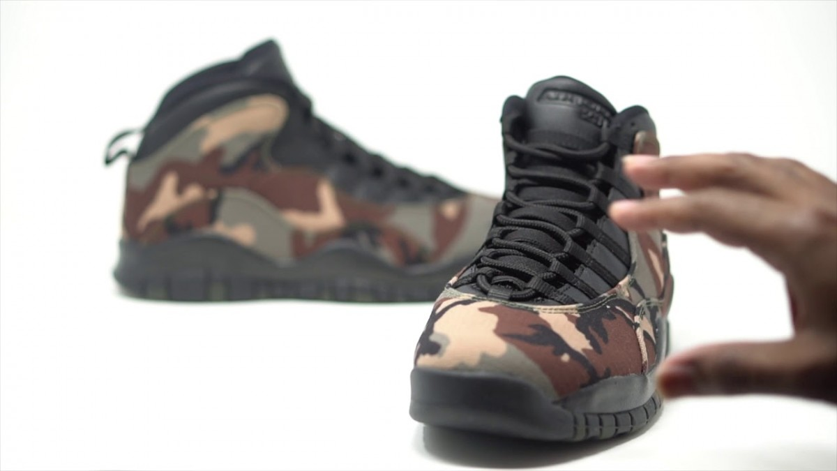 STYLE: FIRST LOOK: Air Jordan 10 Retro 'Woodland Camo' |SHIEKH