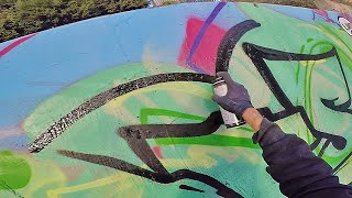 ART: Graffiti – Rake43 – Superfat Green Letters