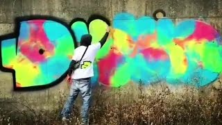 ART: Graffiti Throw Ups ‐ Bombings 01